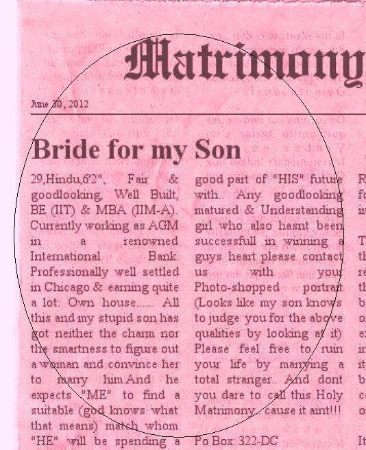 14 matrimonial ads on indian newspapers that seem too