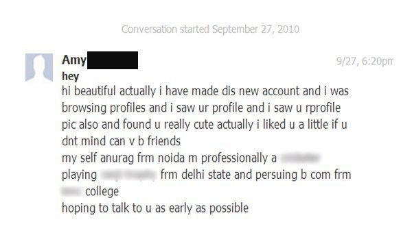 50 Incredibly Creepy Messages From Facebook Romeos