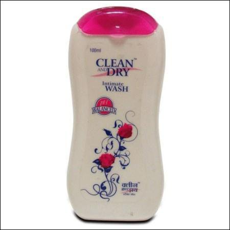 clean and dry intimate wash