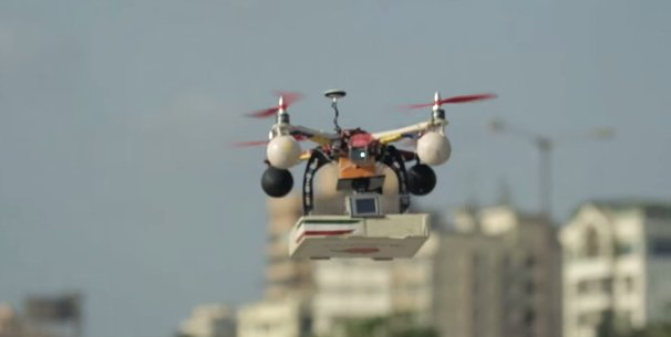 pizza delivery by drone in mumbai with Francesco Pizza Drone on Amazon Drones To Deliver Merchandise together with Mumbai Police Seeks Explanation On Drone Pizza Delivery besides Francesco Pizza Drone as well Making Drones Fly together with Drone Delivered Pizza In Mumbai Sparks Excitement Angers Authorities.